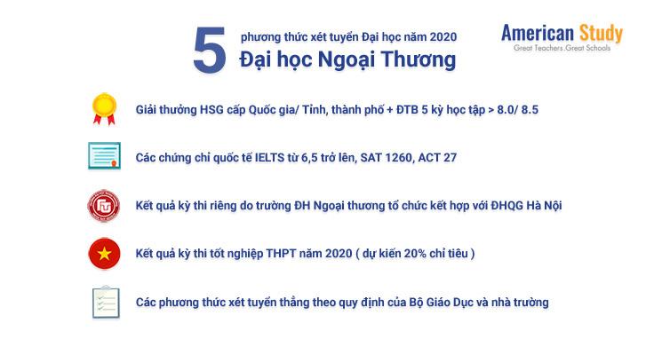 5 phuong thuc xet tuyen dai hoc ngoai thuong