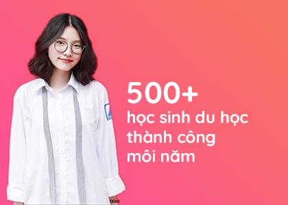 500+ học sinh du học thành công
